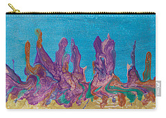 Abstract Mirage Cityscape In Blue Carry-all Pouch