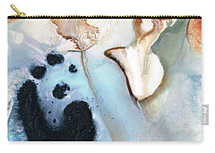 Carry-all Pouch featuring the painting Abstract Modern Art - The Vessel - Sharon Cummings by Sharon Cummings