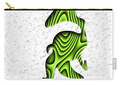 Abstract Monster Cut-out Series - Green Stroll Carry-all Pouch