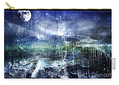 Abstract Moonlit Seascape Painting 36a Carry-all Pouch