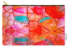 Abstract Mosaic On Canvas Carry-all Pouch by Carolyn Repka