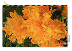 Carry-all Pouch featuring the photograph Abstract Motif By Yellow Daffodils by Jean Bernard Roussilhe