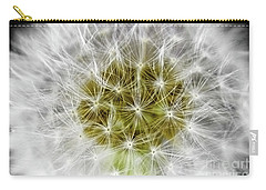 Abstract Nature Dandelion Floral Maro White And Yellow A1 Carry-all Pouch