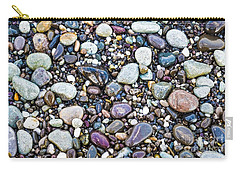 Abstract Nature Tropical Beach Pebbles 871a Blue Purple Pink And Orange 871a Carry-all Pouch
