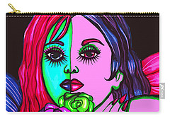 Abstract Neon Rose Fairy Carry-all Pouch