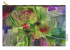 Carry-all Pouch featuring the digital art Abstract Of Color by Deborah Benoit