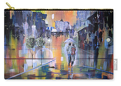 Carry-all Pouch featuring the painting Abstract Of Motion by Raymond Doward