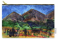 Abstract Of Sky Trees And Mountains Carry-all Pouch by R Kyllo
