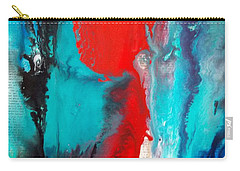 Abstract On Words Carry-all Pouch by Carolyn Repka