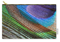 Abstract Peacock Feather Carry-all Pouch