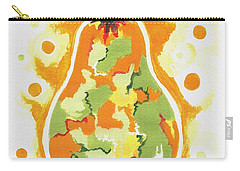 Carry-all Pouch featuring the painting Abstract Pear by Kathleen Sartoris