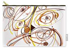 Abstract Pen Drawing Five Carry-all Pouch by Lynne Taetzsch