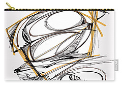 Abstract Pen Drawing Four Carry-all Pouch by Lynne Taetzsch