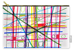 Abstract Pen Drawing One Carry-all Pouch by Lynne Taetzsch