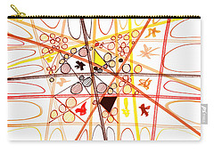 Abstract Pen Drawing Three Carry-all Pouch by Lynne Taetzsch