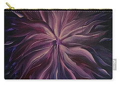 Abstract Purple Flower Carry-all Pouch