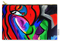 Abstract  Rain Bow Girl Carry-all Pouch