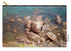 Abstract Rock By The Sea Carry-all Pouch