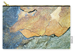 Carry-all Pouch featuring the photograph Abstract Rock by Christina Rollo