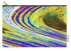 Carry-all Pouch featuring the photograph Abstract Saguaro Contour by Tom Janca