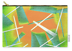 Carry-all Pouch featuring the painting Abstract - Saws by Lenore Senior