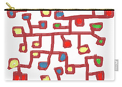 Abstract Scattered Nodes Carry-all Pouch