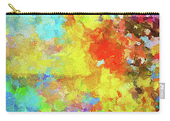 Carry-all Pouch featuring the painting Abstract Seascape Painting With Vivid Colors by Ayse Deniz