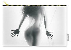 Abstract Sensual Woman Silhouette Behind White Sheer Curtain Carry-all Pouch