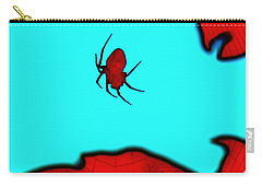 Abstract Spider Carry-all Pouch by Linda Hollis