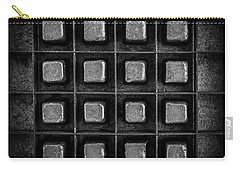Abstract Squares Black And White Carry-all Pouch