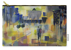 Carry-all Pouch featuring the painting Abstract Stroll by Raymond Doward