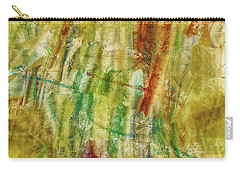 Carry-all Pouch featuring the digital art Abstract Sunday by Deborah Benoit