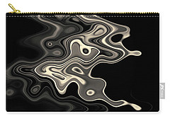 Abstract Swirl Monochrome Toned Carry-all Pouch