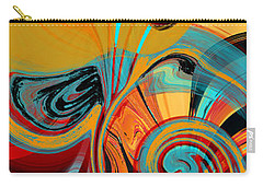 Abstract Swirls Carry-all Pouch by Jessica Wright