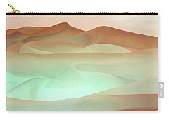 Abstract Terracotta Landscape Carry-all Pouch by Deborah Smith