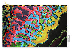 Carry-all Pouch featuring the painting Abstract Thought by Jolanta Anna Karolska