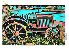 Carry-all Pouch featuring the digital art Abstract Tractor Los Olivos California by Floyd Snyder