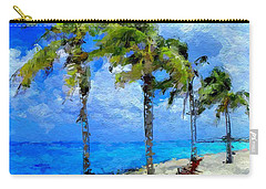 Abstract Tropical Palm Beach Carry-all Pouch