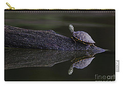 Carry-all Pouch featuring the photograph Abstract Turtle by Douglas Stucky