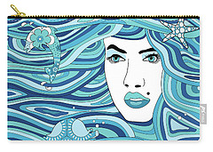 Abstract Water Element Carry-all Pouch by Serena King