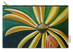 Carry-all Pouch featuring the painting Abstract Wildflower - Floral Painting by Ai P Nilson