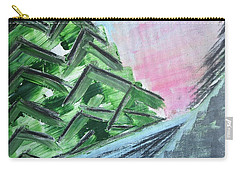 Abstract Winter Landscape Carry-all Pouch by Tamara Savchenko