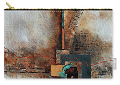 Carry-all Pouch featuring the painting Abstract With Stud Edge by Joanne Smoley