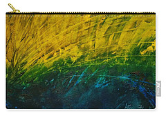 Abstract Yellow, Green With Dark Blue.   Carry-all Pouch