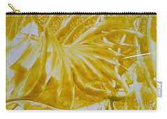 Abstract Yellow  Carry-all Pouch