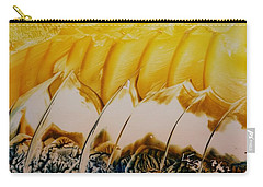 Abstract Yellow, White Waves And Sails Carry-all Pouch