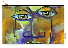 Abstract Young Man Carry-all Pouch by Raymond Doward
