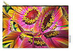 Abstract Yellow Flame Zinnia Carry-all Pouch