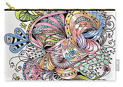 Abstract2colored Carry-all Pouch