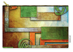 Carry-all Pouch featuring the digital art Abstraction 2 by Chuck Staley